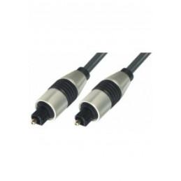 Lichtleiterkabel 1m Toslinkstecker - Toslinkstecker, Profi, vergoldet, Metall