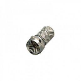 F-Stecker 7mm mit Gummidichtring - mit grosser Mutter