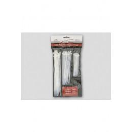 Kabelbinder transparent aus Nylon Beutel je 25 Stk von 2,5 x 100, 3,6 x 150 und 4,8 x 200mm