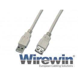 Wirewin USB2.0 Verlängerungskabel, A - A, 5m, GR