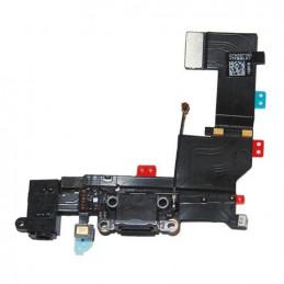 iPhone 5S USB Anschluss / Dock Connector Modul + Kopfhörer Eingang in schwarz
