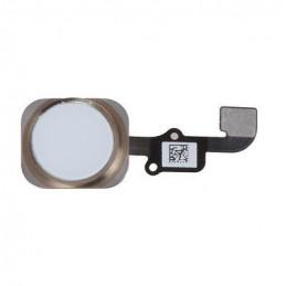 iPhone 6 Home Button Flexkabel + Home Button - Weiss / Gold