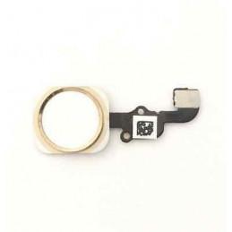 iPhone 6S Home Button Flexkabel + Home Button - Weiss / Gold