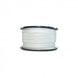 Kabel 100 Meter Koax 7mm ,100dB, weiss, Meteraufdruck