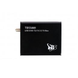 TBS5881DVB-T2/-C Single-Tuner mit CI, USB, Hybrid-TV-Box