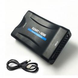 Scart auf HDMI Konverter Adapter für TV / PC / DVD - Schwarz
