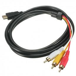 1,5 M HDMI Stecker Auf 3 Cinch Video Audio AV Kabel Adapter