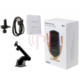 Wireless Car Charger Infrared Smart Sensor with Air Vent Clip - Simple Fast