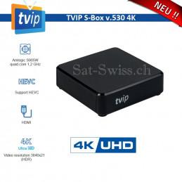 TVIP v.530 S-Box Mediacenter IPTV 4K HEVC HD Multimedia Stalker Streamer