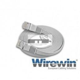 Wirewin Cat.6 STP 10m weiss Slim Patchkabel geschirmt