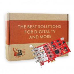 TBS6985 PCIe DVB-S2 Quad Tuner Satellite TV Card- TV Tuner for Window Linux