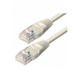 Ethernetkabel CAT 5e - UTP grau 5,0 Meter RJ45 Stecker