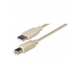 1,8m USB-Kabel Stecker A -  Stecker B, USB 2.0