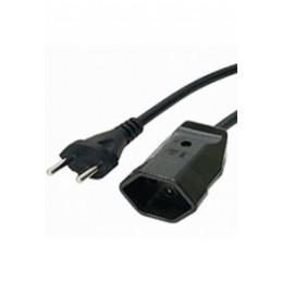 5m Netzverlängerung 2x1qmm schwarz