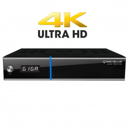 Gigablue UHD TRIO 4K 2160p 1xDVB-S2X MS 1xDVB-C/T2 Tuner E2 Linux Receiver Schwarz