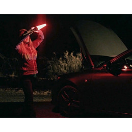 MINI MAGLITE LED Flashlight black & safety pack red