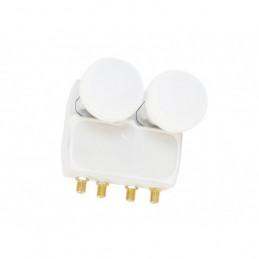 Smart Titanium Gold Monoblock Quad LNB 0.1 dB 13°/19.2° HD-Ready
