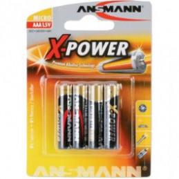 Ansmann Alkaline X-Power Batterie, Micro (AAA), 4er Pack