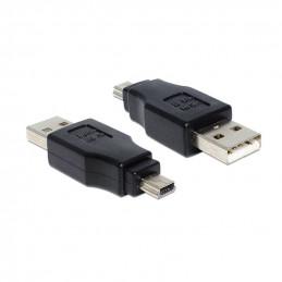 Delock Adapter USB A Stecker  USB Mini-B Stecker