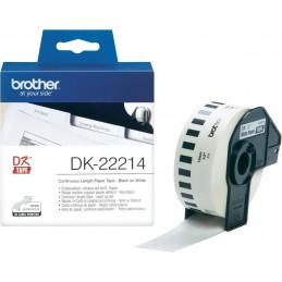 Brother P-touch DK-22214 Endlos-Etiketten Papier 12mm x 30.48m