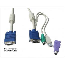 LevelOne ACC-2101: 1.8m USB-PS/2-VGA KVM-Kabel