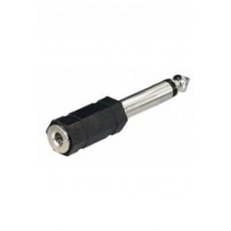 Adapter Klinkenstecker 6,35mm mono - Klinkenkupplung 3,5mm mono